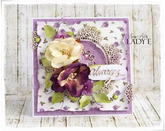 Unique handmade card for Any Occasion, Anniversary, Wedding
