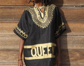 Limited Edition Black and Gold Dashiki