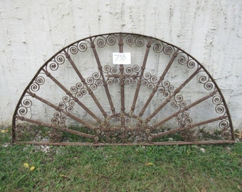 Antique Victorian Iron Gate Window Panel Fence Architectural Salvage #735