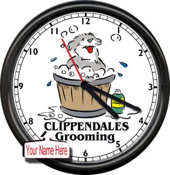 Personalized Dog Groomers Clock