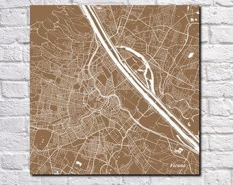 Vienna Street Map Print Map of Vienna Street Map Vienna Poster Austria Art 7006S