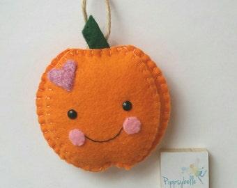 Pumpkin Halloween decoration, felt pumpkin decoration, pumpkin twiggy tree, cute Halloween decoration, children's Halloween gift