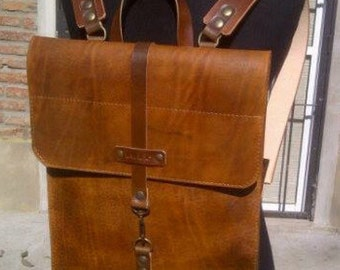 Leather Slim Backpack