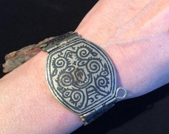 Enameled Bracelet,vintage Bracelet,Middle Eastern,Vintage  ,Hzara Jewellery,Blue Bracelet,Bracelet,Enameled