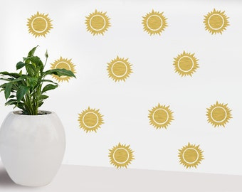 Vinyl Sticker - Sun decal - Party Decorations - Wall stickers - Home Decorations - Home decor - Home decor ideas -sun wall decal