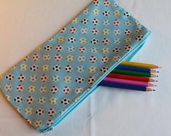 Handmade Football Pencil Case Makeup bag