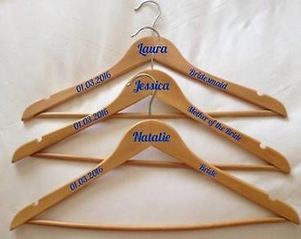 DIY wedding coat hanger decal