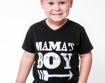Mama's Boy - Vneck Tees