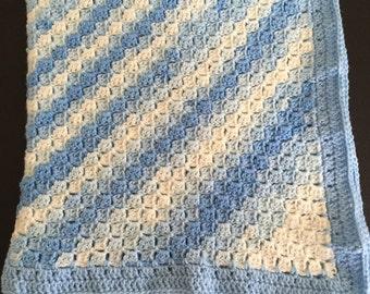 Crochet Blanket, Crochet baby blanket, Stroller blanket, Car seat blanket, crochet baby afghan, Baby Afghan, C2C Blanket, baby blanket