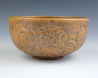 gold bowl No.3, Koi fish, Wheel-Throuwn and carved