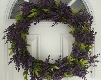 "CLEARANCE*** Lavender Grapevine Wreath, 20"" (1017)"