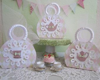 Tea Party Favor Boxes, Favor Boxes, Girl Birthday Tea Party Favor Boxes, Birthday Favor Boxes, Lady's Tea Favor Boxes, Girl Birthday Favors.
