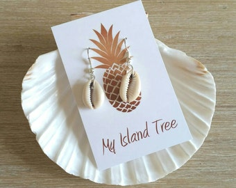 Island Cowrie Shell Earrings