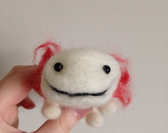 Axolotl Needle Felted Soft Sculpture