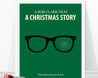 A Christmas Story Poster, You'll Shoot Your eye out, Christmas Gift Idea, Movie Poster, Minimalist Print, Christmas Movie