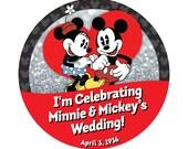 "Custom 3"" ""I'm Celebrating"" Buttons for Wedding, Anniversary, Special Event"