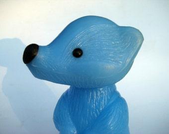 toy raccoon/ raccoon figurine/vintage toy Blue