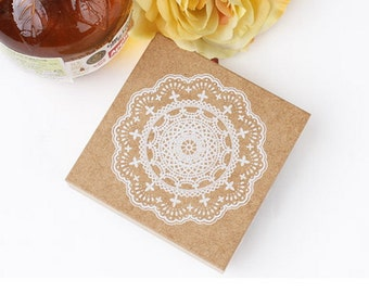 Stamp BIG Floral Lace Wooden Rubber / Craft Favour Calligraphy Scrapbooking / Wedding Party card making Stationery #501