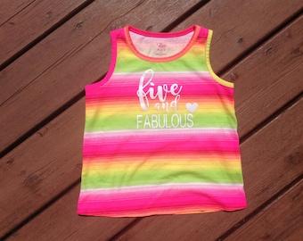 Five and Fabulous Tank