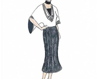 Art Nouveau Blouse Moira - PDF Pattern Size US16 UK20 DE46
