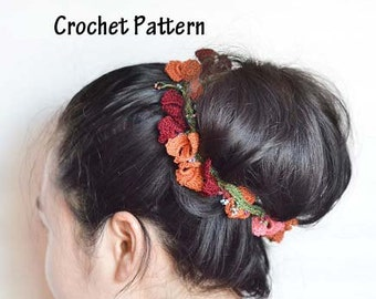 Crochet Hair Accessories Pattern, Hair Accessories, Autumn/Fall, Pattern & Instructions, Boho, Crochet Hairband Pattern, Instant download