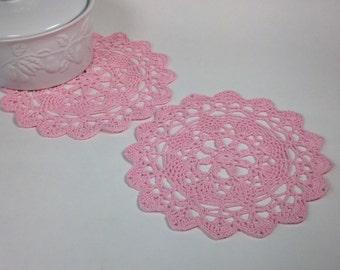 Small Crochet Doilies - set of 2 (#09-56)