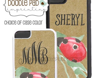 Personalized Ladybug Phone 6 Case, iPhone 6 case, Monogram Samsung Galaxy S6