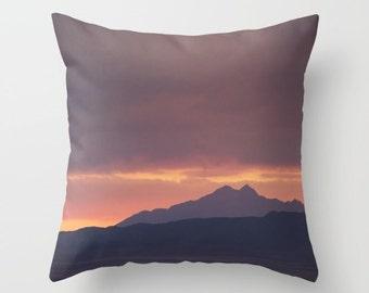 Mountain pillow, mountain cushion, purple pillow, purple cushion, purple decor, pillow cover, cushion cover, photography pillow, 16, 18, 20