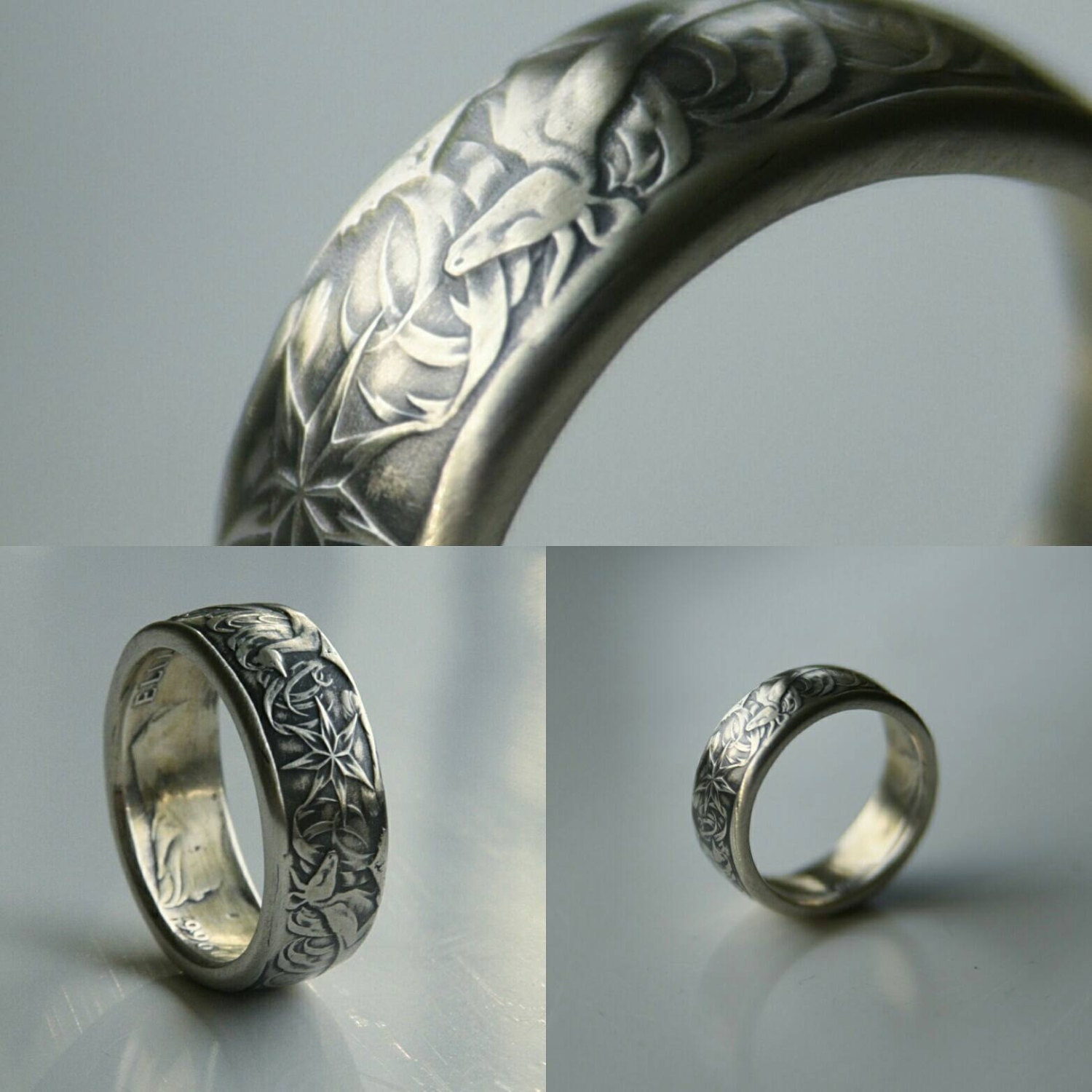 australia 50 cents silver coin ring