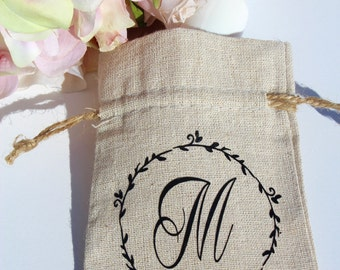Wedding Linen Favor Bags - Wedding Favor Bags - Rustic Wedding Favor Bags - Party Favor Bags - Rustic Favor Bags- Personalized Favor Bags