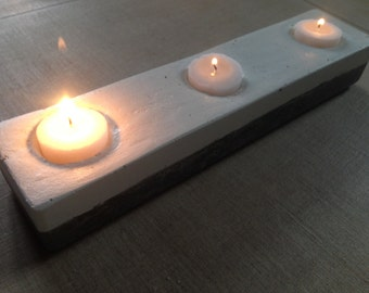Candlestick in concrete. concrete candlestick