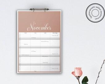 Family Calendar 'DELICATA', planar // A3