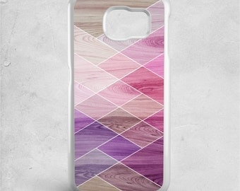 Samsung galaxy j1 case geometric - Available for Samsung j1 2016, galaxy 15 2016, samsung galaxy j5 - wood print - purple, lilac, lavender