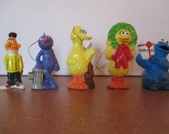 Vintage Sesame Street Christmas Ornaments 1980s