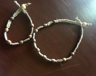Hemp necklace and anklet