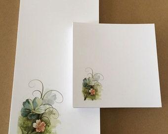 Blue Floral Notepad Set