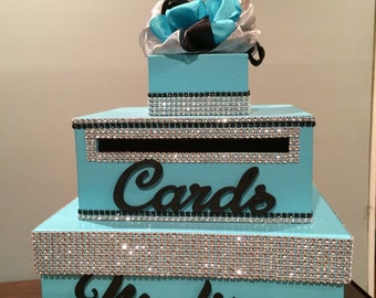 Teal and black sweet 16 box