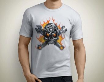 Men's Shirt - Skeleton T-shirt - Skull Tshirt