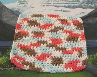 0333 Hand crochet dish cloth 8 by 8