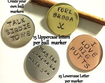 Personalized Golf Ball Markers - 4 - Set of Golf Ball markers - Best Man Gift - Golf Gift - Father's Day Gift - Personalized Gift For Dad -