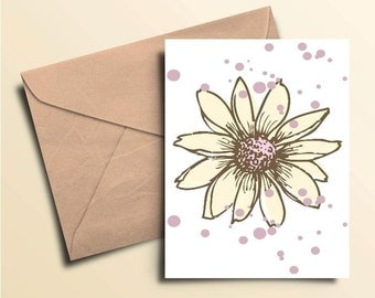 Flower Dot Note Cards – Boxed Set of 10 With Envelopes