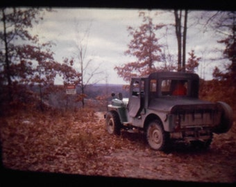 Vintage Kodachrome 35mm Slide 1950's Jeep Off Road Classic Car Truck 3 Slides