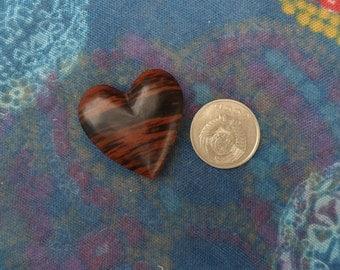 Mahagony Obsidian Heart