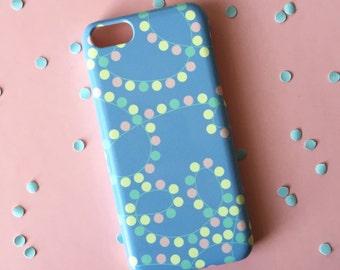 Fairy Lights iPhone 7 case, Pastel iPhone 7 case, iPhone 7 Plus, Girly iPhone case, iPhone case, iPhone SE, iPhone 6S, iPhone 6, iPhone 5/5s