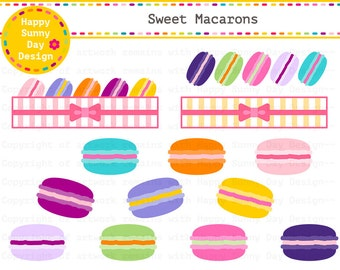40% off Macaron / Colorful Macaroons / French Macaroon / Sweet Macaron Clip Art - Instant Download - C016