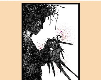 ON SALE 50% OFF Edward Scissorhands, Kids Room Decor, Poster,  print, Wall Art, gift, Wall decor, Instant Download