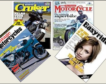 4 Miniature   'MOTORCYLE / MOTORBIKE'   Magazines  -  Dollhouse 1:6th  1/12th  1/24th  1/48th  scale