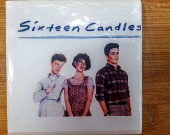 Single Tile Drink Coaster 16 candles John Huges 80s Movie Poster Drink Coaster