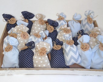 Advent Calender - 24 x bags (blue)