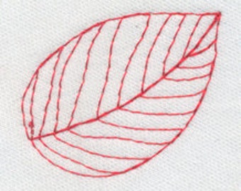 Single Leaf - Open & Delicate - To Repeat - Embroidery Design - Instant Digital Download